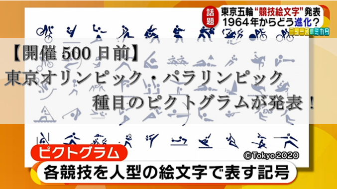 【開催500日前】東京オリンピック種目のピクトグラムが発表!