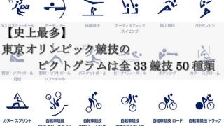 【史上最多】 東京オリンピック競技の    ピクトグラムは全33競技50種類